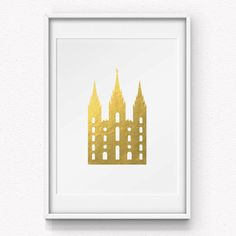 I Love to See the Temple - Gold Foil Print