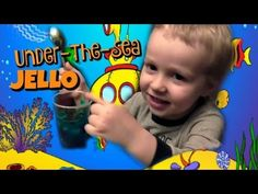 Making Under-the-Sea Jello with Wesley - Kids Cooking - Making blue Jello with sea creatures! - YouTube