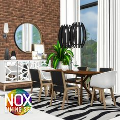 Nox Dining Set Redux for The Sims 4 Simple Furniture, Contemporary Furniture, Outdoor Furniture Sets, Outdoor Decor, Brick Archway, Muebles Sims 4 Cc, Casas The Sims 4, Shaker Style Kitchens, The Sims 4 Download
