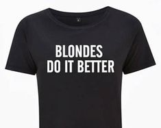 Blondes Do It Better Crop Top
