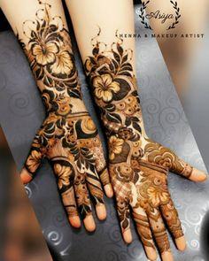 Floral Henna Designs, Henna Tattoo Designs Simple, Latest Bridal Mehndi Designs, Full Hand Mehndi Designs, Mehndi Design Pictures, Mehndi Designs For Girls, Mehndi Designs For Beginners, Wedding Mehndi Designs, Beautiful Henna Designs