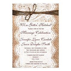 rustic country western wedding invitations | country western, Wedding invitations