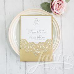 Gorgeous Laser Cut Wholesale Wedding Invitation WPL0155