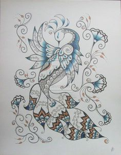 Henna Peacock 2 by ~MSBoyd on deviantART
