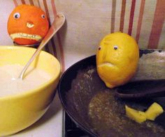 Shrove tuesday and the boys are having fun. (Clean that frying pan Mr Angry Orange)