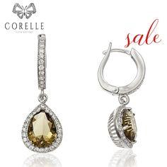 Cercei argint Latch Back Drop Earrings Zirconii Bijuterii - Corelle Backdrops, Drop Earrings, Boutique, Personalized Items, Cod, Silver, Vintage, Jewelry, Jewlery
