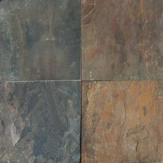 Rustic Gold Slate Tile features deep grays, oranges, golds and browns. It is recommended for all projects including flooring, countertops and walls. Grey Slate Floor Tiles, Slate Flooring, Wall And Floor Tiles, Wall Tiles, Flooring Tiles, Floors, Slate Countertop, Countertop Materials, Countertops