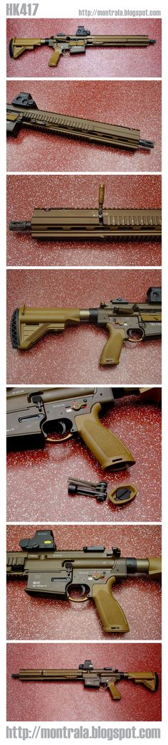 Photo collection from my friend's visit to HK factory in Germany. Shots of the HK417. http://montrala.blogspot.com