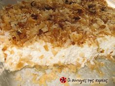 Αναρόκρεμα (Κρέμα με μυζήθρα ή ανθότυρο) #sintagespareas Greek Sweets, Greek Desserts, Greek Recipes, Cyprus Food, Homemade Sweets, Group Meals, Recipe Images, Pitta, Macaroni And Cheese