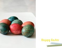 Colored Easter eggs by Irene Hoofs from Bloesem Here's perhaps the easiest craft project you can think of. But my 3 year old son loved it. When it comes to Holidays I am pretty old-fashioned and coloring of eggs with...