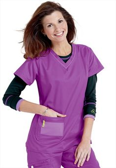 I think these are pretty cool!  Antidote sporty v-neck scrub top.