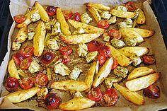 Hähnchenbrutfilet mit Country-Kartoffeln