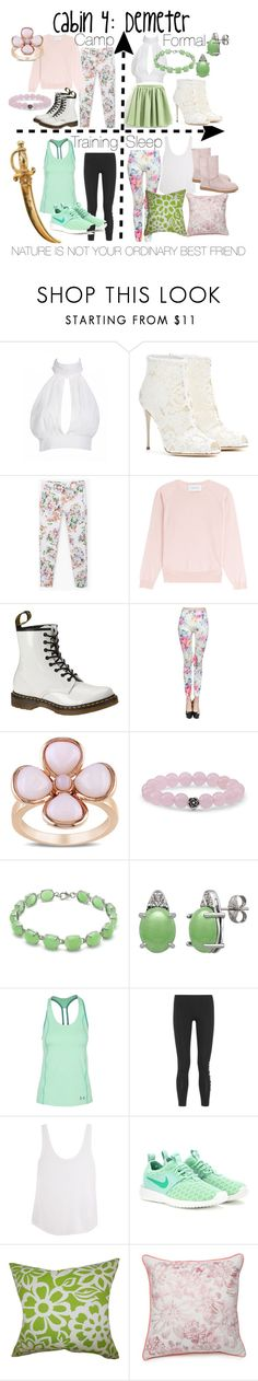 """""""Cabin 4: Demeter"""" by aquatic-angel ❤ liked on Polyvore featuring Dolce&Gabbana, MANGO, Simone Rocha, Dr. Martens, Miadora, Natures Jewelry, Under Armour, Ivy Park, Frame and NIKE"""