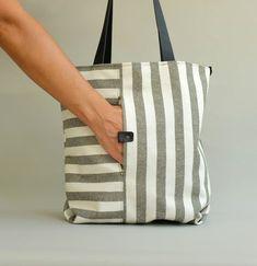 Striped bags and backpacks (ideas) / Bags, clutch .- Сумки и рюкзаки в полоску (идеи) / Сумки, клат… Striped bags and backpacks (ideas) / Bags, clutches, suitcases / SECOND STREET - Sacs Tote Bags, Canvas Tote Bags, Women's Bags, Striped Bags, Craft Bags, Diy Bags, Patchwork Bags, Linen Bag, Denim Bag