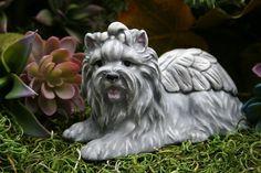 Yorkie Angel Memorial Statue Yorkshire Terrier Silky Dog