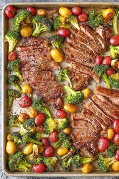 Sheet Pan Steak and Veggies.