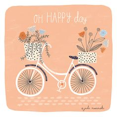 Freelance Illustration, Design and Wedding Stationery Art And Illustration, Illustration Inspiration, Bicycle Illustration, Pattern Illustration, Pattern Art, Print Patterns, Charcole Drawings, Cute Doodles, Spring Art