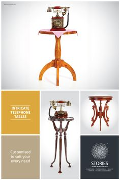 Thoughtfully designed, high quality telephone tables/side tables/accent tables/end tables for every living room at a very cool price at Stories. Telephone Table, Accent Tables, Side Tables, Home Goods, Carpet, Concept, Make It Yourself, Lights, Living Room