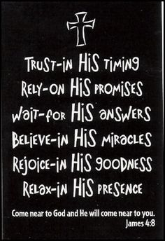 In All things Trust in the Lord