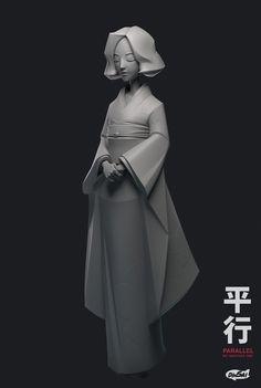 The Parallel (Kimono), Kontorn Boonyanate on ArtStation at https://www.artstation.com/artwork/Wkn6X