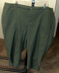 82619dbe8 Lane Bryant Olive Comfortable Waistband Capri Pants Pockets Size 20  #LaneBryant #CaprisCropped #Casual