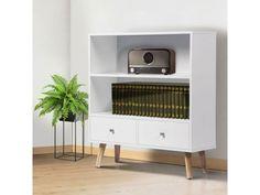 Bibliothèque effie scandinave bois blanc - Vente de ID MARKET - Conforama