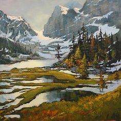 Linda Wilder - Opabin Basin- Acrylic - Painting entry - January 2011 | BoldBrush Painting Competition