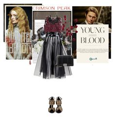 """Indulge Your Dark Side with Crimson Peak : Contest Entry"" by angel-from-heaven ❤ liked on Polyvore featuring Dot & Bo, Diane James, Alberta Ferretti, Lanvin, Chanel, vintage and CrimsonPeak"