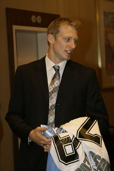 Jordan Staal- I like how he has signed Sid and Flower jerseys
