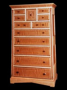 Curly Redwood veneer, Curly Maple, Lacewood, Rosewood +/- 40 wide by 80 tall .. 1994