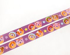 Colorful and cute donuts washi tape is perfect to decorate your planner, use as label tags, decoration for scrapbook, invitations, gift-wrapping, and more! Also makes a great gift for any washi tape collectors <3 :) The design is made by BeagleCakes - so these washi tape rolls are only available in this Etsy shop! Listing is for 1 washi roll tape, or pick a set from the drop down menu. Tape is printed on rice paper and can be written over and repositioned. Measurements: 1.5cm (0.6 inch)...