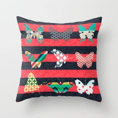 Free Worldwide Shipping Available Today! Summer butterflies Throw Pillow