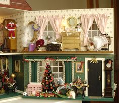 Christmas in the dolls' house - Dolls House Magazine - Crafts Institute. Amanda Hope's house where it is always Christmas.