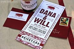 Really cute barbecue wedding invitations!
