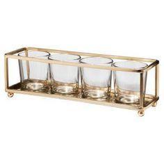 Find candle holders at Target.com! Threshold four votive candleholder brass finish