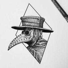 31 ideas for bird skull drawing illustration tattoo ideas Kunst Tattoos, Tattoo Drawings, Pencil Drawings, Art Drawings, Noir Tattoo, Mask Tattoo, Tattoo Bird, Creepy Drawings, Creepy Tattoos