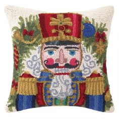 Peking Handicraft Nutcracker Throne Hook Wool Throw Pillow