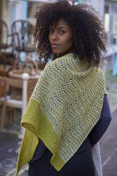 Ravelry: Op Art Shawl pattern by Sonja Bargielowska Knitted Poncho, Knitted Shawls, Crochet Shawl, Knit Crochet, Shawl Patterns, Lace Patterns, Knitting Patterns Free, Free Pattern, Knitting Accessories