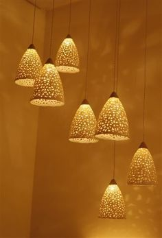 20% OFF Ceramic lighting fixture. Hanging by rachelnadlerceramics