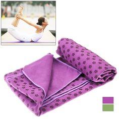 Microfiber Wintersweet Pattern Skid Particles Yoga Towel (Random Color Delivery)