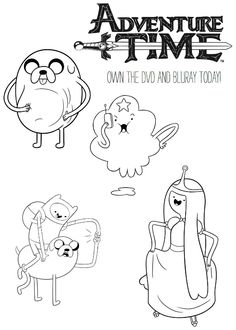 Adventure Time Coloring Pages RA Stuff Pinterest Adventure