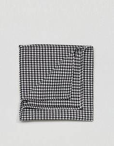 ASOS Pocket Square In Dog Tooth - Black