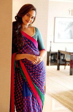Aint Nobody Like This Desi Girl Sonakshi Stuns In Sari