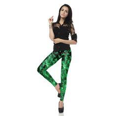 New Design Printed Women Leggings High Waist Leggins Green Legins Cats Legging Tie Dye Women Pants Cat Leggings, Printed Leggings, Pants For Women, Clothes For Women, News Design, Polyester Spandex, Print Design, Tie Dye, High Waist