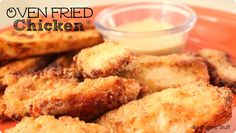Oven Fried Chicken Recipe from sixsistersstuff.com.  Tastes as great as regular fried chicken, but without all the mess! #recipes #chicken