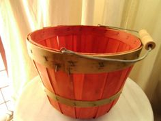 Vintage Harvest Orchard Basket Rustic Farmhouse with Handle | thesewingcottage - Baskets on ArtFire