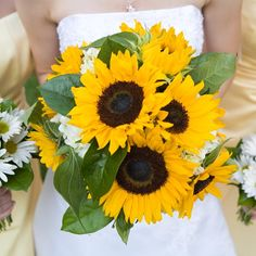Yellow Wedding Bouquets and Boutonnieres — The Pretty Life