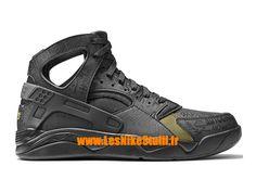 官方耐克气垫飞行的Huarache耐克篮球的男士黑色/金色686203-002 lesnikeofficielstall