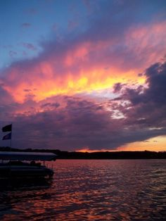 sunset over green lake, wisconsin. (my photography, taken in july of 2008)