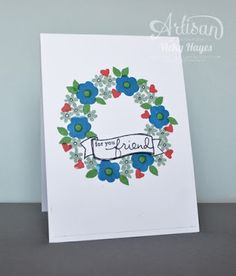 The scale of the flowers in Endless Thanks are perfect for stamping a wreath :) - Vicky Hayes